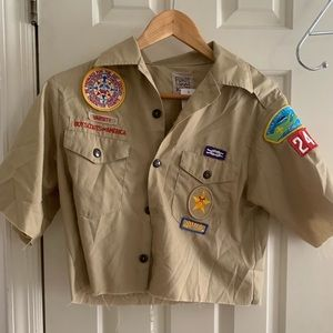 LF NWT Furst of a Kind Boy Scout Crop